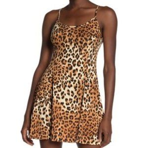 LOVE...ADY Animal Flare Tank Dress Size La…